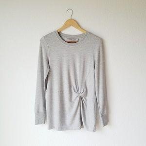 Athleta Nirvana Twist Tie Front Soft Sweatshirt S